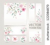 vector greeting card with tiny... | Shutterstock .eps vector #122086870