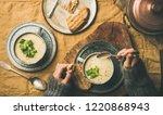 autumn  winter home dinner.... | Shutterstock . vector #1220868943