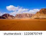 red mountains of the canyon of... | Shutterstock . vector #1220870749