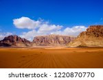 red mountains of the canyon of... | Shutterstock . vector #1220870770