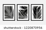 a set of three framed art... | Shutterstock .eps vector #1220870956