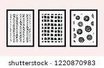 a set of three framed art...   Shutterstock .eps vector #1220870983