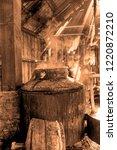 boiler used in the preparation... | Shutterstock . vector #1220872210