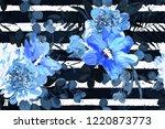 flower seamless pattern. floral ... | Shutterstock . vector #1220873773