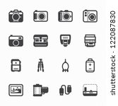 camera icons and camera... | Shutterstock .eps vector #122087830