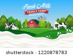 vector milk illustration with... | Shutterstock .eps vector #1220878783