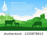 vector milk illustration with... | Shutterstock .eps vector #1220878813