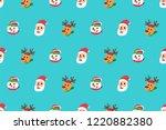 vector cartoon happy christmas... | Shutterstock .eps vector #1220882380