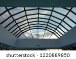 modern glass roof with steel... | Shutterstock . vector #1220889850