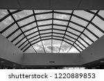 modern glass roof with steel... | Shutterstock . vector #1220889853