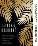 wedding invitation template... | Shutterstock .eps vector #1220890090