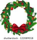 christmas wreath isolated on... | Shutterstock .eps vector #122089018