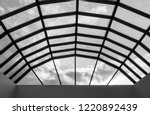 modern glass roof with steel... | Shutterstock . vector #1220892439