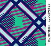 seamless pop art pattern.... | Shutterstock .eps vector #1220895613