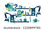 vector illustration  a... | Shutterstock .eps vector #1220899783
