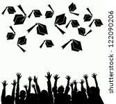 high school graduation hats... | Shutterstock . vector #122090206