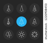 set of 9 icons  for web ... | Shutterstock .eps vector #1220908453