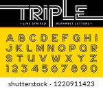 vector of modern alphabet... | Shutterstock .eps vector #1220911423