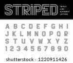 vector of modern alphabet... | Shutterstock .eps vector #1220911426