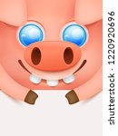 lucky pig. chinese new year.... | Shutterstock .eps vector #1220920696
