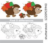 find the several differences... | Shutterstock .eps vector #1220925943