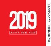 2019 new year poster.vector... | Shutterstock .eps vector #1220930059
