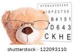 Teddy Bear with Glasses at the Eye Doctor / Teddy Bear - stock photo