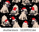 seamless christmas pattern.... | Shutterstock .eps vector #1220931166
