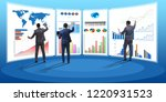 concept of business charts and... | Shutterstock . vector #1220931523