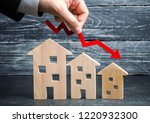a decline in property prices.... | Shutterstock . vector #1220932300