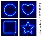 neon circle  heart  square and... | Shutterstock .eps vector #1220943559