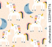 seamless childish pattern with... | Shutterstock .eps vector #1220948776