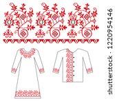 ukrainian flower ornament for... | Shutterstock .eps vector #1220954146