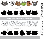 forest animals faces set to... | Shutterstock .eps vector #1220954290