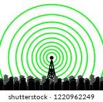 tower transmitter illustration | Shutterstock .eps vector #1220962249
