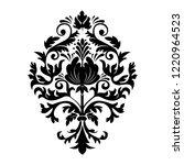 vector damask element. isolated ... | Shutterstock .eps vector #1220964523