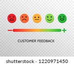 feedback design with emotions... | Shutterstock .eps vector #1220971450