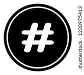 hashtag sign icon vector... | Shutterstock .eps vector #1220975413