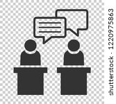 politic debate icon in flat... | Shutterstock .eps vector #1220975863