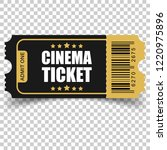 realistic cinema ticket icon in ... | Shutterstock .eps vector #1220975896