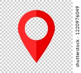 pin map icon in flat style. gps ... | Shutterstock .eps vector #1220976049