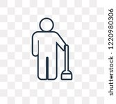 brooming vector outline icon... | Shutterstock .eps vector #1220980306