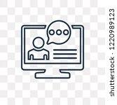 testimonial vector outline icon ... | Shutterstock .eps vector #1220989123