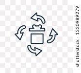 gift vector outline icon...   Shutterstock .eps vector #1220989279