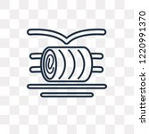 Hay Roll Vector Outline Icon...