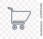 shopping cart vector outline... | Shutterstock .eps vector #1220991496