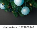 christmas or new year... | Shutterstock . vector #1221003160