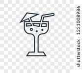 margarita concept vector linear ... | Shutterstock .eps vector #1221008986