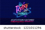 Stock vector  s new future retro wave banner or cover old style vector poster disco fluorescent neon style 1221011296