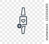 smartwatch concept vector... | Shutterstock .eps vector #1221016303